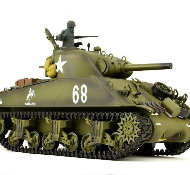 US M4A3 Sherman 1:16 Metallgetriebe, Metallketten und Metallräder Pro Modell