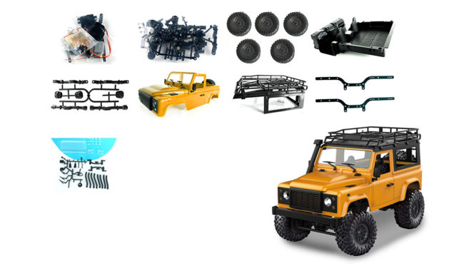 Amewi Geländewagen Crawler 4WD 1:16 Bausatz