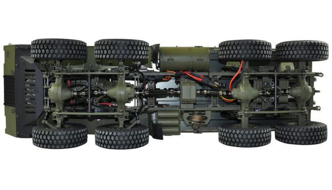 U.S. Militär Truck 8×8 1:12 mit Ladefläche military grün