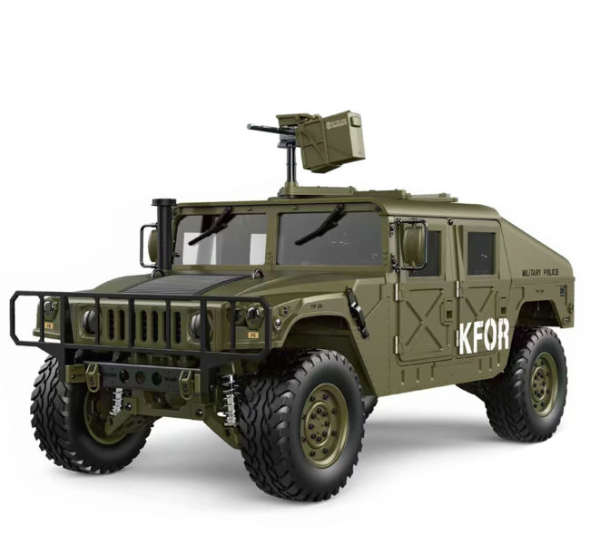 HG P408 RC Model Car U.S. 4×4 Military Vehicle Truck 2.4G 4WD 16CH  1:10